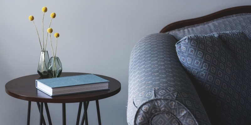 Side table decorations by furniture