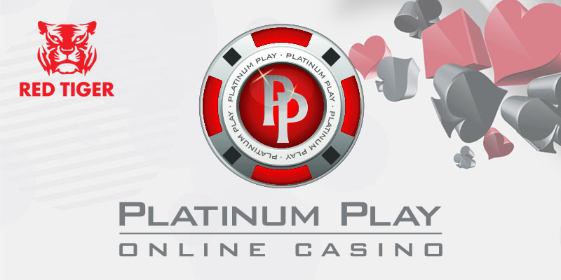 Platinum Play and Red Tiger logos