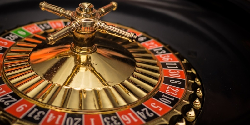 A close-up of a Roulette wheel
