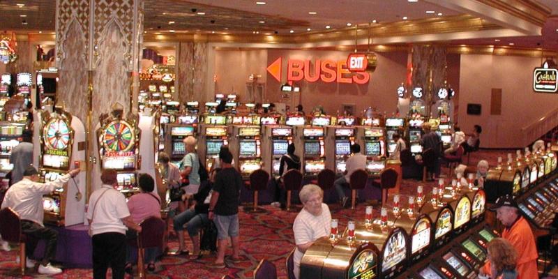 Slot machines in a casino.