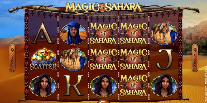 Spielautomat Magic of Sahara, Spin Palace